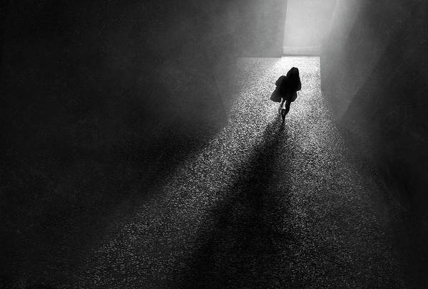 Dark Shadows Photograph - To The Light by Ekkachai Khemkum