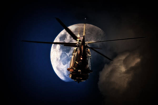 Agustawestland Photograph - To The Moon by Paul Job