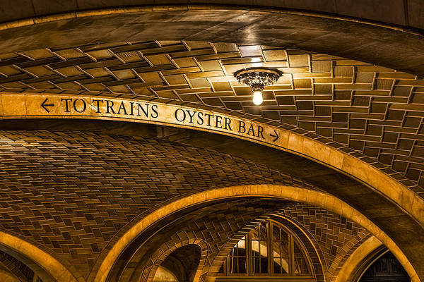 Oyster Bar Wall Art - Photograph - To Trains And Oyster Bar by Susan Candelario