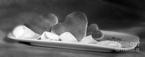 Wall Art - Photograph - Toast Hearts With Butter Black And White by Iris Richardson
