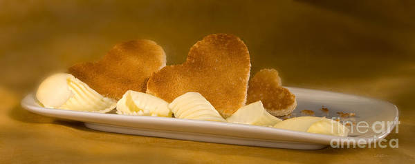 Wall Art - Photograph - Toast Hearts With Butter by Iris Richardson