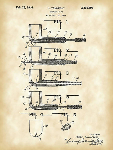Wall Art - Digital Art - Tobacco Pipe Patent 1944 - Vintage by Stephen Younts