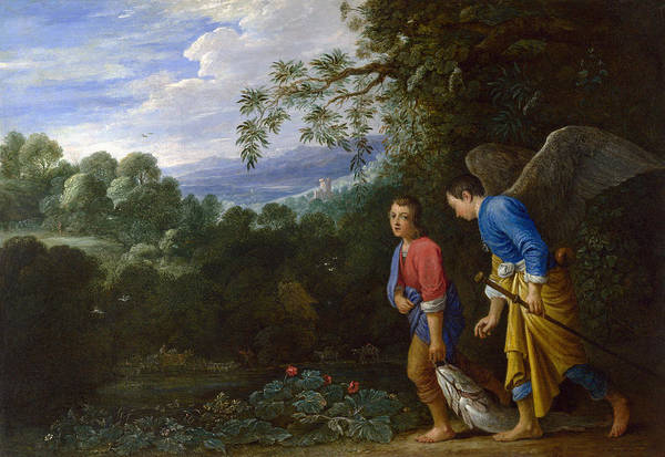 Wall Art - Painting - Tobias And Angel by Granger