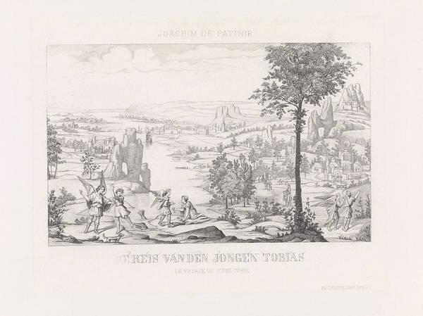 Episode 4 Wall Art - Drawing - Tobias Traveling With Raphael, Edouard Taurel by Edouard Taurel