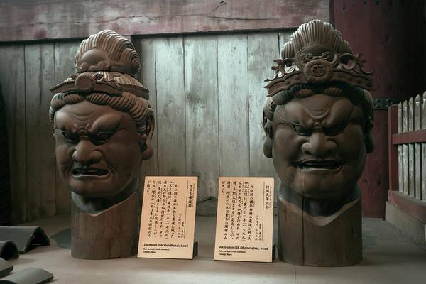 Wall Art - Photograph - Todaiji Temple 2 Meter Heads by Daniel Hagerman