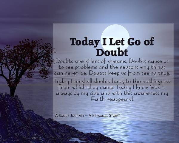 Letting Go Digital Art - Today I Let Go Of Doubt by Laureen Lenoir