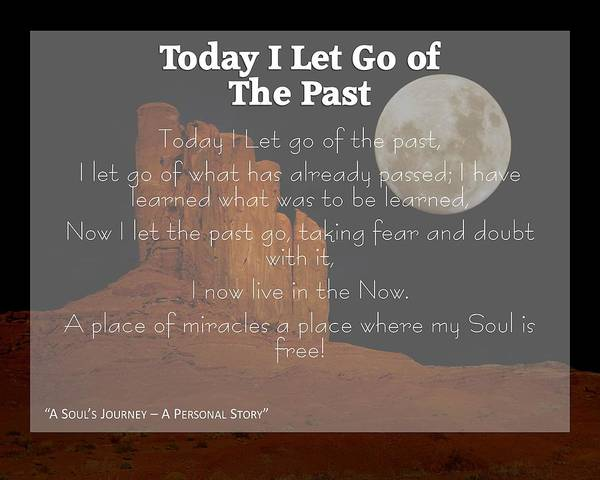 Letting Go Digital Art - Today I Let Go Of The Past by Laureen Lenoir