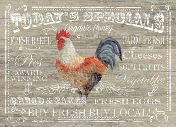 Farmhouse Kitchen Painting - Today's Specials by P.s. Art Studios