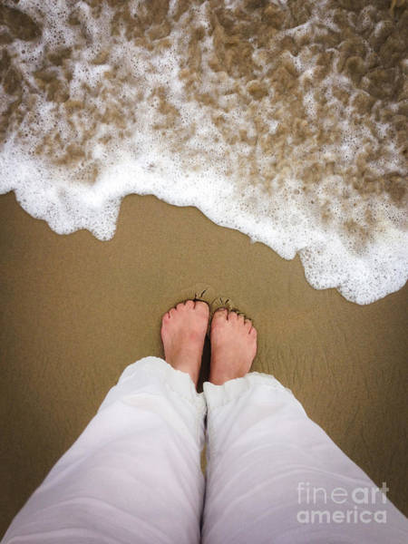 Wet Sand Photograph - Toes In The Sand by Diane Diederich