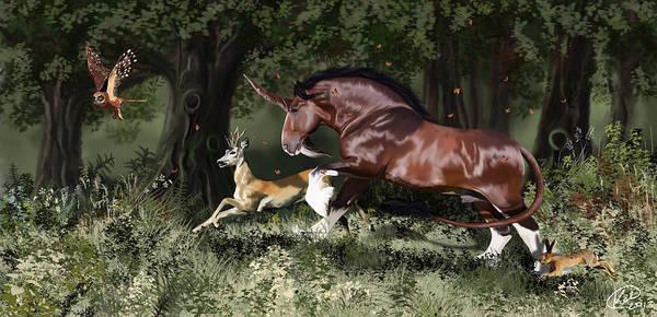 Unicorn Horn Digital Art - Together by Kate Black