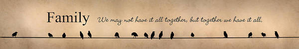 All Together Photograph - Together We Have It All by Lori Deiter