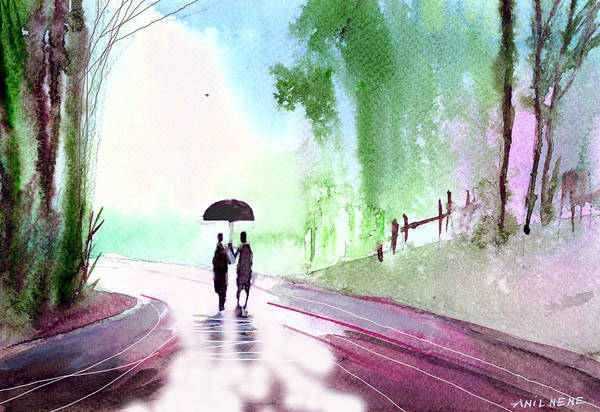 Painting - Togetherness by Anil Nene