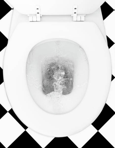 Toilet Photograph - Toilet Being Flushed by Emmeline Watkins/science Photo Library
