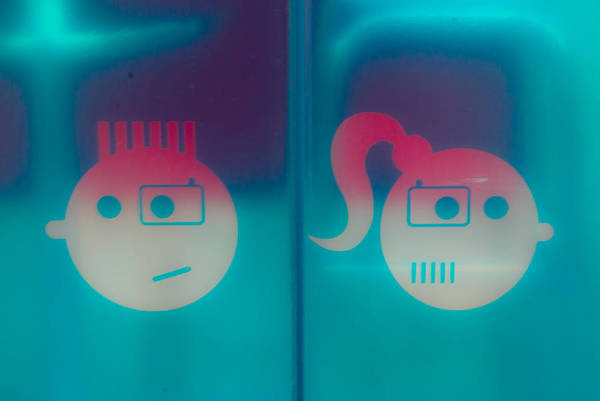 Unisex Photograph - Toilet Male And Female Signs by Georgina Noronha