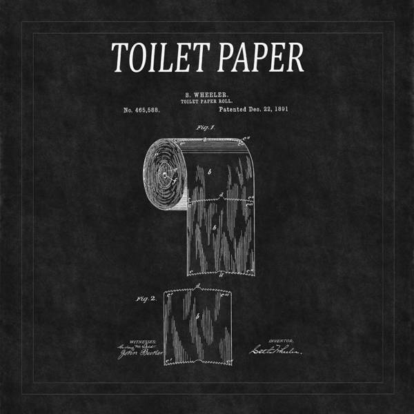 Toilet Paper Photograph - Toilet Paper Patent 2 by Andrew Fare