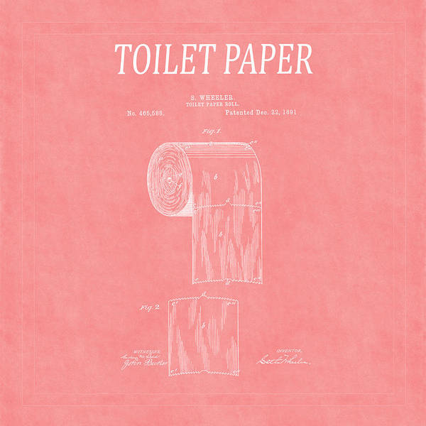 Toilet Paper Photograph - Toilet Paper Patent 3 by Andrew Fare