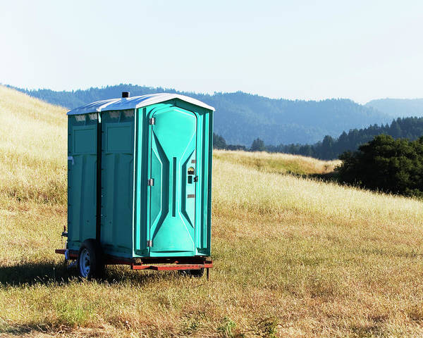 Outside Toilet Photograph - Toilet Trailer In A Outdoor Setting by Ron Koeberer