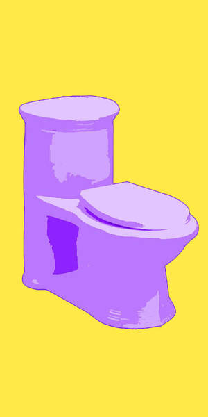 Toilette In Purple Art Print