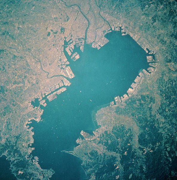 Mission Bay Photograph - Tokyo And Tokyo Bay From Space by Nasa/science Photo Library