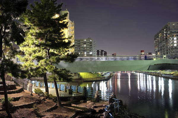 Photograph - Tokyo At Night Bridge by For Ninety One Days