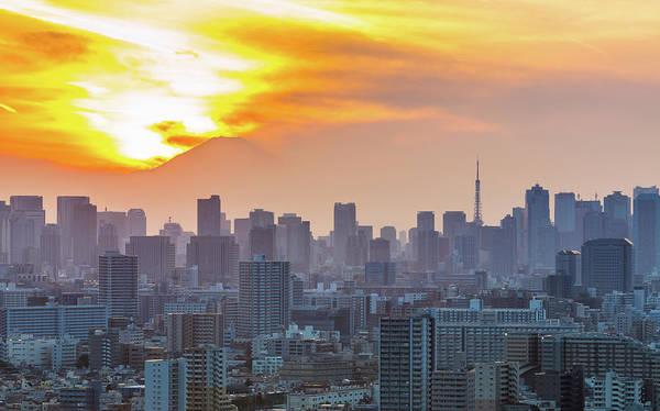 Japan Photograph - Tokyo City At Sunset by Japan