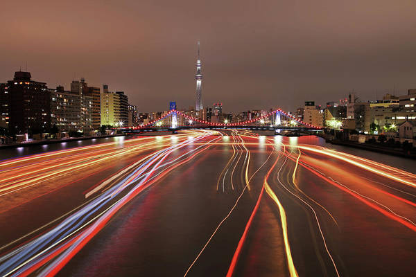 Multi Exposure Photograph - Tokyo Cityscape At Night by Photography By Zhangxun