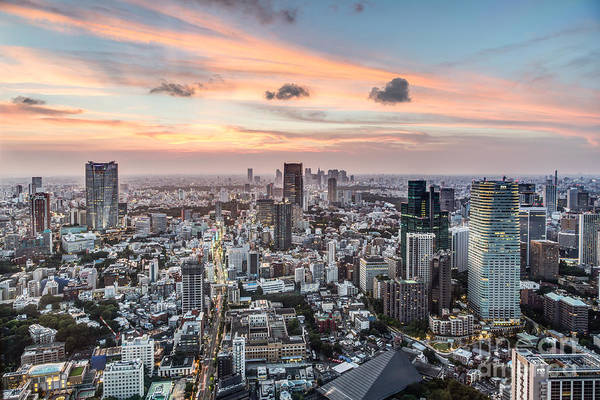 Photograph - Tokyo Cityscape by Didier Marti