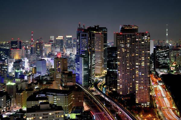 Ginza Wall Art - Photograph - Tokyo Downtown At Night by Vladimir Zakharov