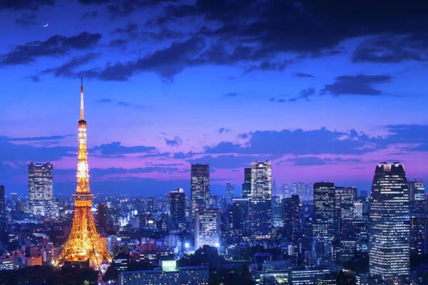 Wall Art - Photograph - Tokyo Night View by Takao Kataoka