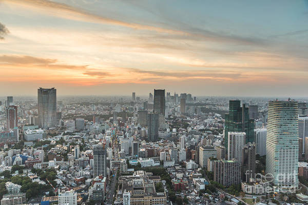 Photograph - Tokyo Sunset by Didier Marti