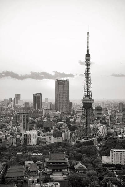 Photograph - Tokyo Tower And The Zozo-ji Temple by For Ninety One Days