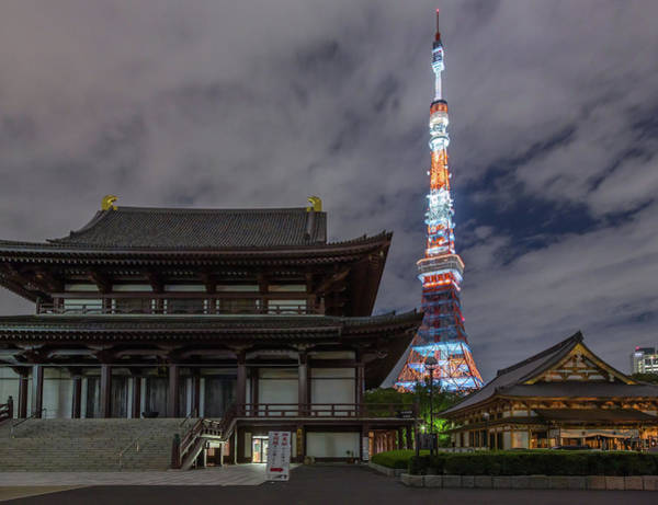 Tower Of David Photograph - Tokyo Tower And Zojoji Shrine by David Schade