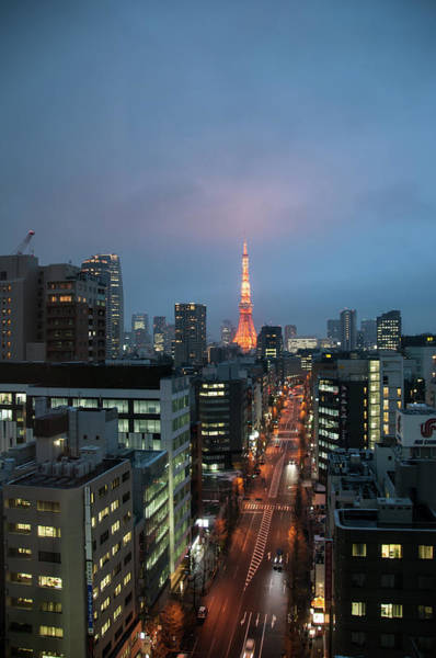 Photograph - Tokyo Tower At Twilight by Guy Whiteley