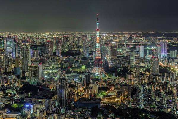 High Dynamic Range Imaging Photograph - Tokyo Tower Hdr by David Schade