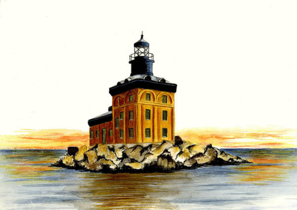Toledo Painting - Toledo Harbor Lighthouse by Michael Vigliotti