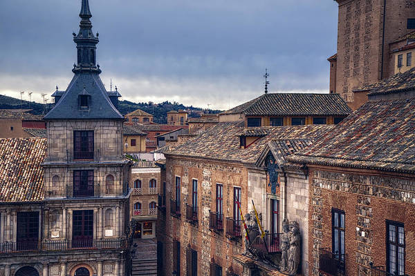 Townscape Photograph - Toledo Rooftops II by Joan Carroll