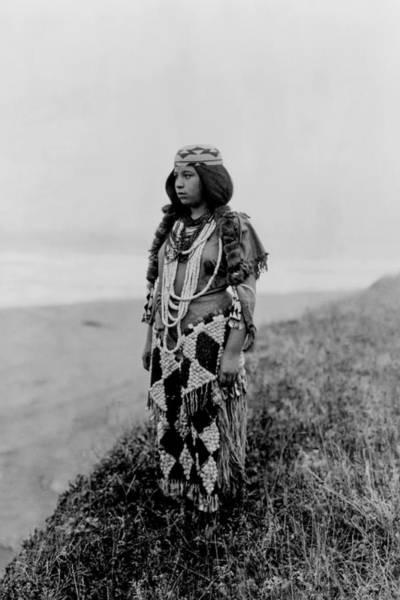 Indigenous Wall Art - Photograph - Tolowa Indian Woman Circa 1923 by Aged Pixel