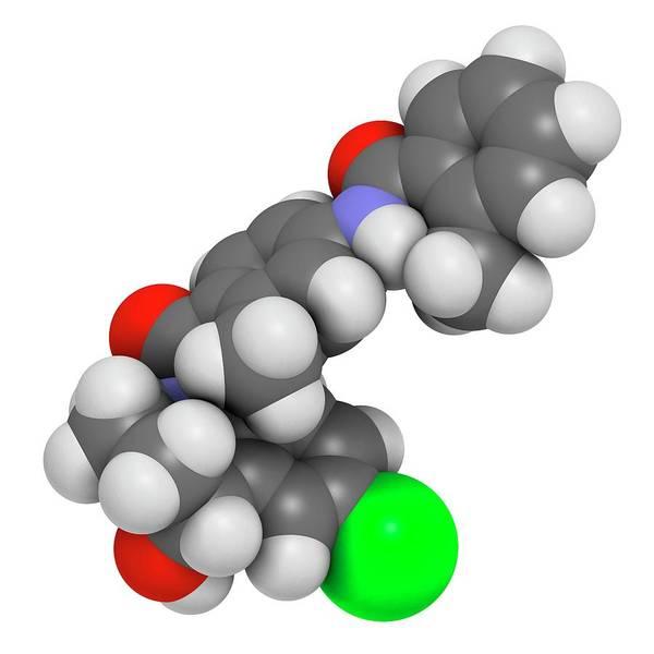 3d Model Photograph - Tolvaptan Hyponatremia Drug Molecule by Molekuul