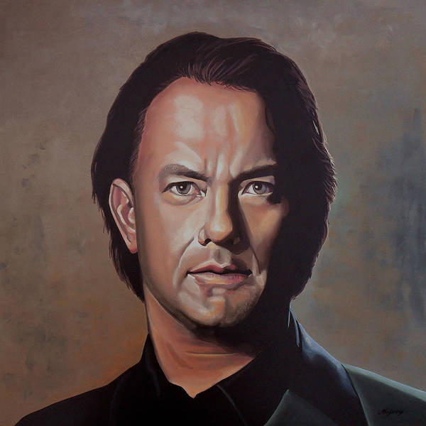Saving Wall Art - Painting - Tom Hanks by Paul Meijering