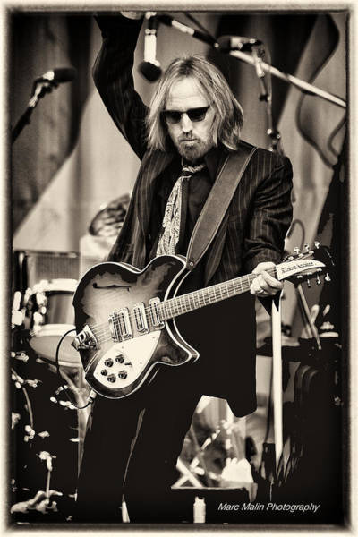 Roll Photograph - Tom Petty by Marc Malin