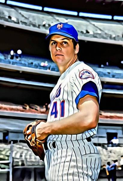 Wall Art - Painting - Tom Seaver by Florian Rodarte