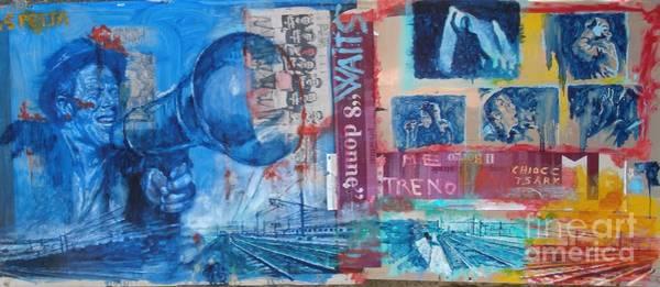 Wall Art - Painting - Tom Waits The Train by Massimo Chioccia