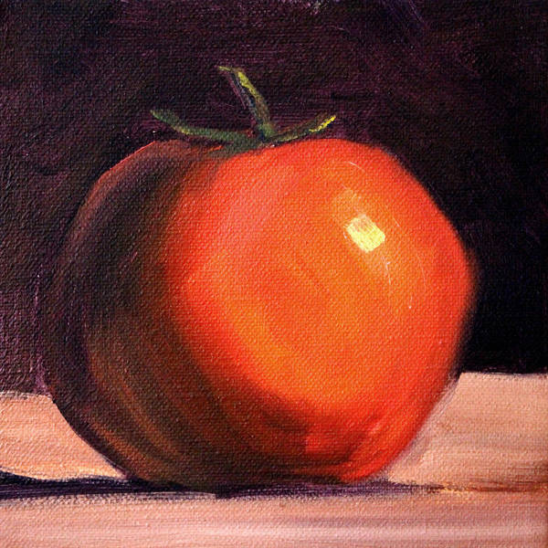Wall Art - Painting - Tomato Still Life Painting by Nancy Merkle
