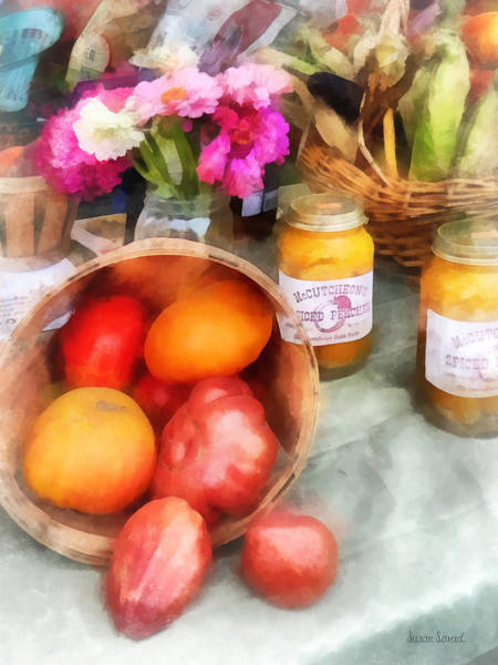 Photograph - Tomatoes And Peaches by Susan Savad