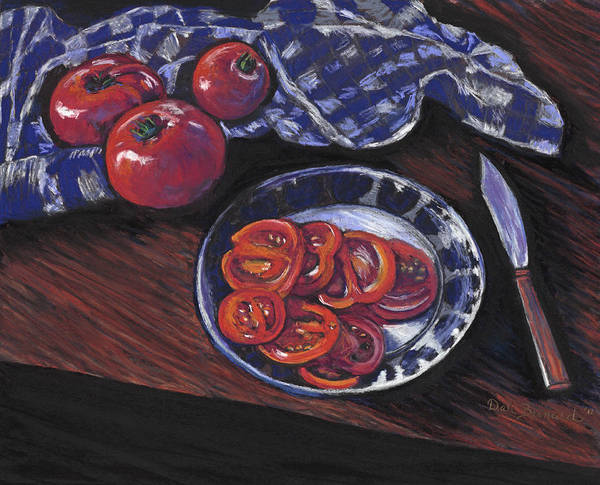 Pastel - Tomatoes by Dale Bernard