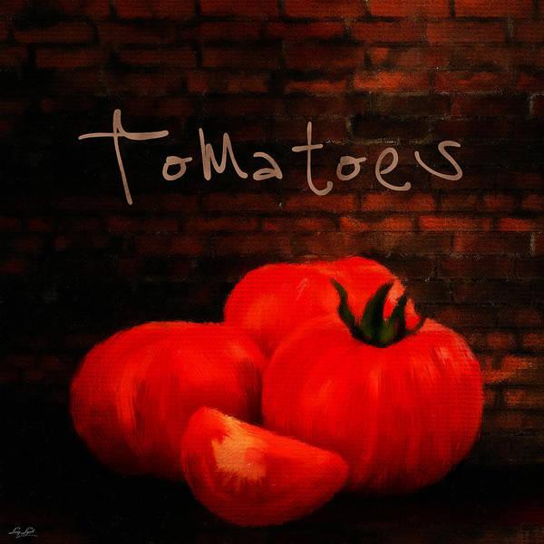 Wall Art - Digital Art - Tomatoes II by Lourry Legarde