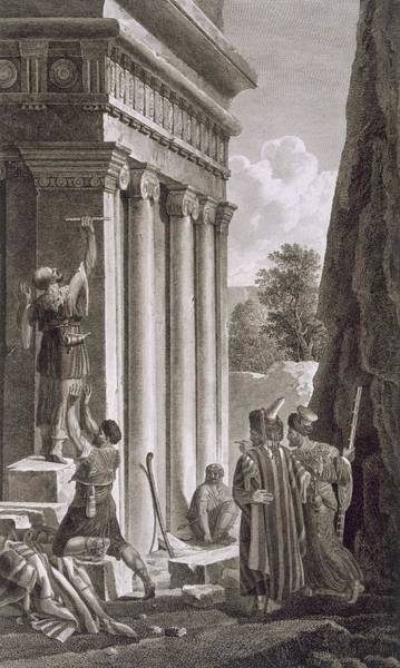 Wall Art - Drawing - Tomb Of Absalom, Valley Of Jehosophat by Louis Francois Cassas