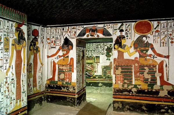 Wall Art - Photograph - Tomb Of Queen Nefertari by Patrick Landmann/science Photo Library