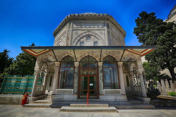 Suleymaniye Mosque Photograph - Tomb Of Suleiman The Magnificent by Stephen Stookey