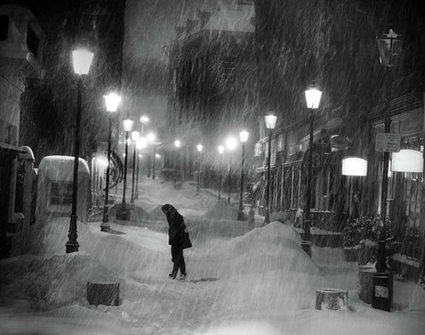 Street Lamp Photograph - Tombe La Neige... by Cristian Andreescu